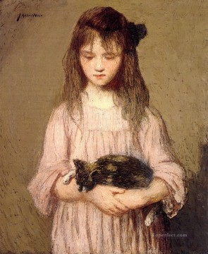 Julian Alden Weir Painting - Little Lizie Lynch Julian Alden Weir